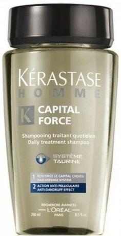 http://www.babling.es/bellocapello/2126456/kerastase-capital-force-bain-purificante-250ml.html - Acción Purificante: Eficacia anti-caspa desde la 1ª semana de tratamiento.  Combate diariamente la descamación del cuero cabelludo. Baño de uso diario. Refuerza el capilar capilar.  Elimina la descamación para conseguir un cabello limpio y purificado.
