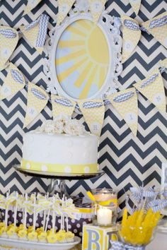 """You Are My Sunshine"" Baby Shower by Valerie via baby shower ideas and shops neutral theme"