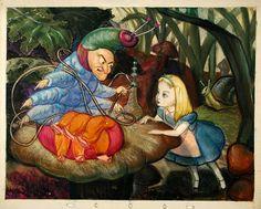 Visual Development from Alice in Wonderland by David Hall