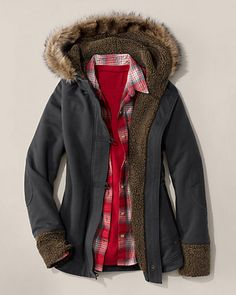 Sherpa Fleece-lined Jacket Fall Winter Outfits, Autumn Winter Fashion, Winter Clothes, Eddie Bauer, Nostalgia, Fall Collections, Canada Goose Jackets, Winter Jackets, My Style