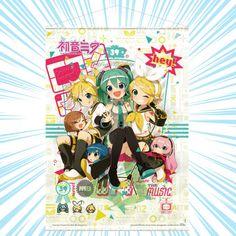 Hatsune Miku: Hey! Piapro Characters Wall Scroll Kaito, Hatsune Miku, Mega Man, Pink Glitter, Naruto Shippuden, Latest Fashion, Chibi, Characters, Wall