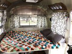 Airstream Renovation Remodel Master Bed