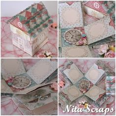 Shabby Chic House, is an explosion box created by me, my friends called explosion house :) Hope you liked. Shabby Chic Frames, Shabby Chic Decor, Vintage Decor, Explosion Box, Exploding Boxes, Shabby Chic Kitchen, Bath Accessories, Decorative Boxes, Create