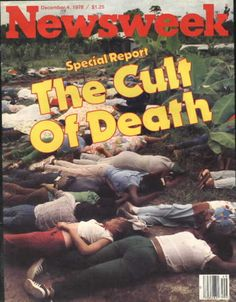 Jonestown, Guyana, Jim Jones leads his cult in mass suicide. Still sad to see this after all those years. Jonestown Massacre, Newspaper Headlines, Today In History, Thing 1, World History, Back In The Day, Childhood Memories, School Memories, In This World