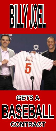 Phillies sign Billy Joel to a contract-  AWESOME!