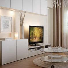 #Organize your #livingroom with the BESTÅ TV storage combination that suits your space!