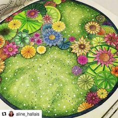 Espetacular! #Repost @aline_hallais with @repostapp #magicaljungle #desenhoscolorir #selvamagica #johannabasford #jardimsecreto