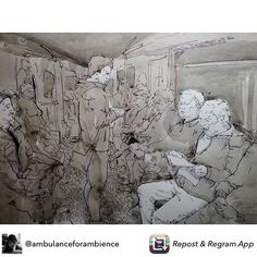 Repost from @ambulanceforambience sketching in the subway #artwork #contemporaryart  #modernart #trainsketch #sketchbook #ballpointpen #moleskine  #рисунок #набросок #illustration #ink #sketchoftheday #sketchingtime #скетчбук #иллюстрация #instaart #sketching #urbansketchers #moleskine #instartist #urbansketch #transportsketch  #usk #doodle #artstudent #artoftheday #sketching #arts_help #sketchaday #sketchers @urbansketchers