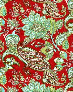 Blitzen - Holiday Paisley - Dk Red