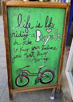 Sidewalk chalkboard in Sayulita, Mx