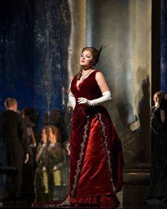 Anna Netrebko as Tatiana in The Met Opera's production of Tchaikovsky's Eugene Onegin