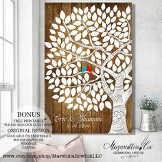 Rustic Wedding Tree Guest Book Alternative Wedding Signs