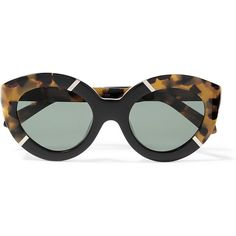 002957ae0d Karen Walker Flowerpatch cat-eye acetate sunglasses ( 220) ❤ liked on  Polyvore featuring