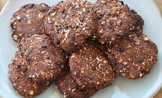 Chocolate Protein Cookies – True Protein Chocolate Protein, Dark Chocolate Chips, Raw Cacao Powder, Classic Recipe, Protein Cookies, Shredded Coconut, A Food, Food Processor Recipes, Treats
