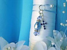 Something Blue Wedding Bouquet Charm Swarovski Crystals Pearls Sapphire Cross. Wedding Bouquet Charms, Bridal Bouquet Blue, Wedding Bouquets, Charms Swarovski, Swarovski Crystals, Something Blue Bridal, Blue Crystals, Bridal Accessories, Pearls