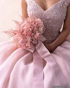 Pink wedding dress- wish I would have seen one like this when I got married.