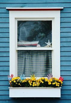 An Artist's Window Newfoundland Canada, Newfoundland And Labrador, Window Sill, Window Coverings, Travel Around The World, Around The Worlds, Canada Cruise, Atlantic Canada, Door Detail