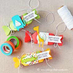 My Favorite Things Jungle Friends Card Kit. Project by Wanda Guess
