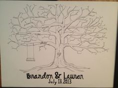 Wedding Guestbook Fingerprint Tree large by MerelyMade on Etsy, $50.00 Wedding Stuff, Wedding Ideas, Fingerprint Tree, Guestbook, Wedding Guest Book, Got Married, Murals, Just In Case, Etsy Store