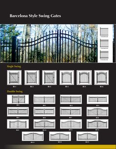 Ornamental Swing Gates, Privacy Gates Security, Iron World Fencing Single Swing, Double Swing, Driveway Entrance, Entrance Gates, Security Gates, Fence, Barcelona, Yard, Outdoors