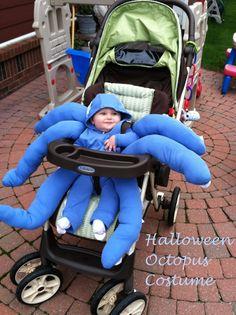Stroller Halloween Costumes, Halloween Costume Sewing Patterns, Costume Patterns, Baby Costumes, Costume Ideas, Jessie Halloween, Halloween Diy, Infant Halloween, Baby Octopus Costume
