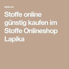 Stoffe online günstig kaufen im Stoffe Onlineshop Lapika