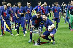 Las mejores fotos del festejo íntimo de Lionel Messi en la cancha por otra Champions League - Lionel Messi - canchallena.com