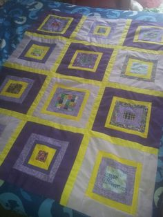 Scrap quilt by Jody Treloar for Sunshine Linus