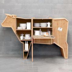 Cows cabinet. Such a fun piece!