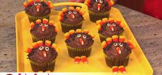 Betty Crocker does it again. These beautifully decorated cupcakes are perfect for a Thanksgiving project. Watch this video and learn how to make your own turkey cupcakes. Don't forget to use the candy corn to make the turkey's feathers and beak. Your kids will love this creative project! Gobble gobble!