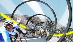 Waarom geen fietssnelwegen bouwen om razendsnel in de stad van A naar B te komen. Dit ontwerp is van de Canadese architect Chris Hardwicke.