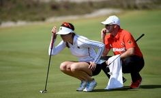 Sandra Gal Photos - Sandra Gal of Germany in actoin during a practice round prior to the Women's Individual Stroke Play golf at the Olympic Golf Course at Olympic Golf Course on August 16, 2016 in Rio de Janeiro, Brazil. - Golf Previews - Olympics: Day 11