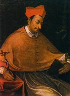 S. Carlos Borromeu, bispo | Salve Maria Saint Charles Borromeo, Happy Feast Day, Jesus Christ Lds, I Fall In Love, Count, November, Angels, Castle, Father