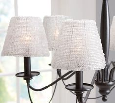beaded glass chandelier shade from pottery barn.