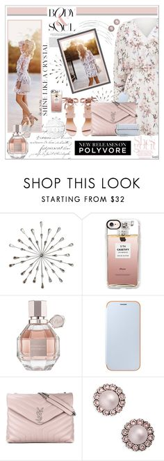 """BODY & SOUL: New Releases"" by polyvore-suzyq ❤ liked on Polyvore featuring Stratton Home Décor, Forever New, Casetify, Viktor & Rolf, Samsung, Yves Saint Laurent, Marc Jacobs and Valentino"