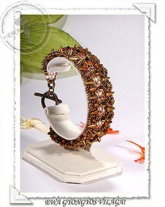 *P Devona  beaded bracelet PDF pattern by Ewagyongyosvilaga on Etsy, Ft1450.00