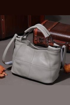 Cowhide genuine leather women tote bag available in 5 colors. All order are  available with 94d40b923c036