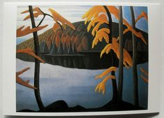 $3.25  Stationary Group OF Seven Greeting Card Northern Lake 1920 BY Lawren Harris | eBay #holiday #stationary #greetingcard
