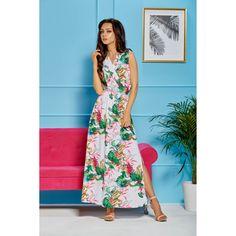 Rochie Arla alba lunga cu imprimeu floral Summer Maxi, Spring Summer, Smart Casual, Floral Maxi Dress, Girls Shopping, Everyday Outfits, Female Bodies, Feminine, Lingerie