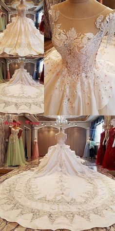 Angel Tree Gorgeous ivory bridal gown flowers beading sleeves ball gown lace … – Les plus belles coiffures et coiffures Bohemian Wedding Dresses, Bridal Dresses, Lace Wedding, Queen Wedding Dress, Ball Dresses, Ball Gowns, Women's Dresses, Dresses Online, Fashion Dresses