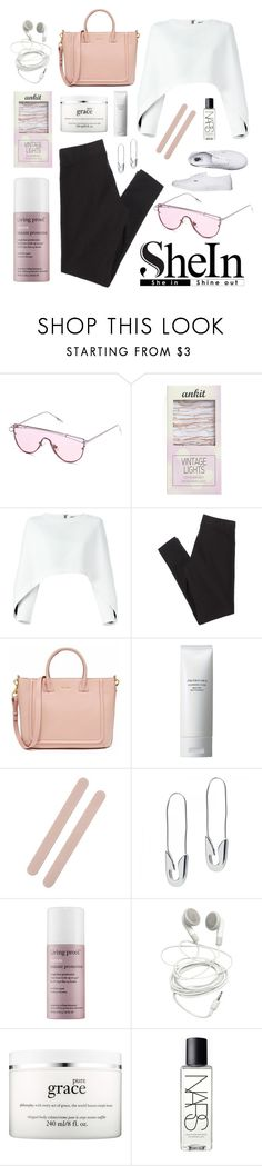"""""""05/03/2017 SheIn"""" by qarlla ❤ liked on Polyvore featuring Streamline NYC, Balmain, American Eagle Outfitters, Shiseido, Muji, Tom Binns, Living Proof, philosophy, NARS Cosmetics and Vans"""