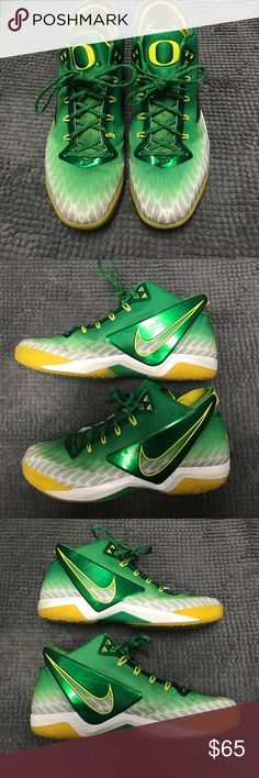 Men's Nike Zoom Field General Oregon Ducks Shoes Authentic Nike shoes. The colors on these are sweet. These are still in great condition, my man just doesn't wear them. Nike Shoes