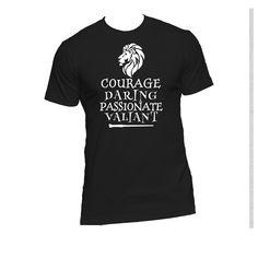 Gryffindor Qualities Ladies or Mens T Shirt,Harry Potter,Hogwarts,Nerd Girl Tees,Geek