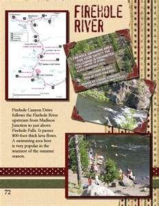 Firehole River Yellowstone scrapbook layout