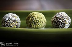 """Ancient Mesopotamia: Mersu (date and pistachio balls)  -""""Let's eat our way around the world: 195 Countries. 195 Meals. 195 Weeks.    Use the interactive world map to explore the countries I've already cooked on our Global Table Adventure (a new country is added every week)."""""""