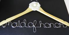 Wedding Hanger. Personalized. Custom Hanger. Maid by LJBridalBliss, $12.99