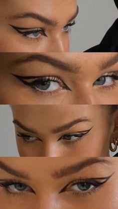 Edgy Makeup, Makeup Goals, Makeup Inspo, Makeup Inspiration, Hair Makeup, Natural Skin, Natural Makeup, Bright Blue Eyes, Insta Photo Ideas