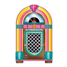 Jukebox Cutout and place a karoke machine behind it to play 50's music! Add your own Sock Hop to the night! :)