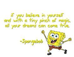 spongebob, motivational, quotes, sayings, belief, yourself sweat fitness