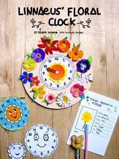DIY Paper Flowers Clock | Free Printable! Who needs a watch when you can use flowers to tell the time?